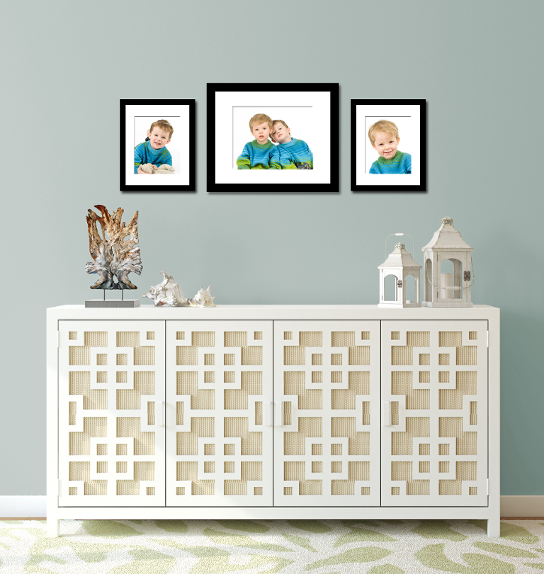 Barnehagebilder på veggen